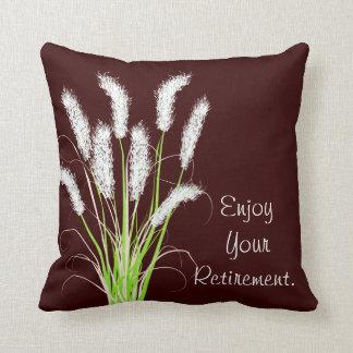 Retirement Pillow Ornamental Grasses Art