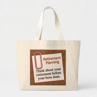 Retirement Planning Canvas Bags