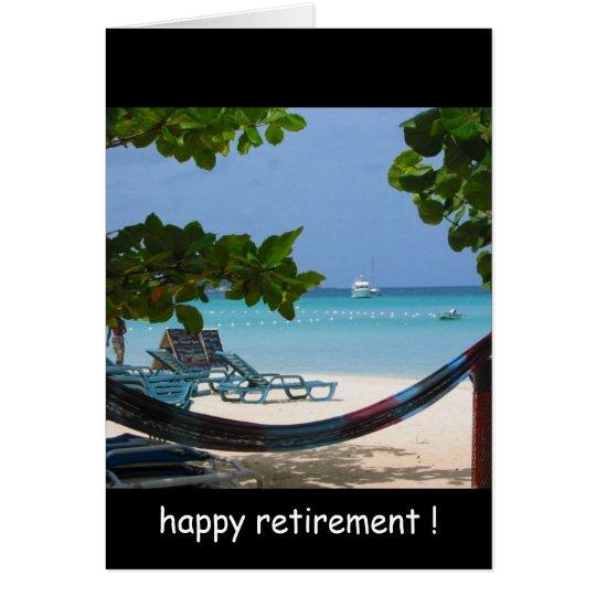 retirement relaxin' card
