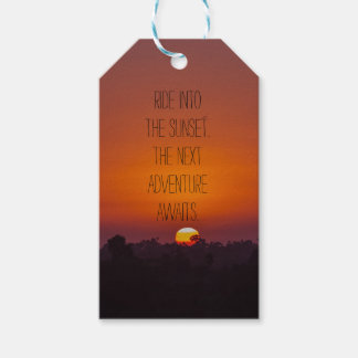 Retirement Ride into the Sunset Gift Tags
