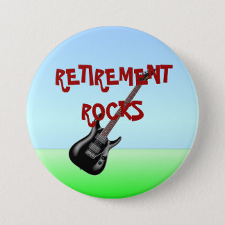 Retirement Rocks 7.5 Cm Round Badge