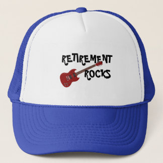 RETIREMENT ROCKS TRUCKER HAT