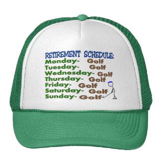 Retirement Schedule GOLFER Cap