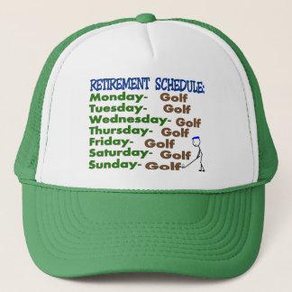 Retirement Schedule GOLFER Trucker Hat