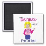 Retirement Square Magnet