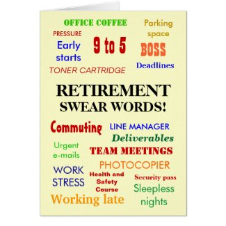 Retirement Swear Words! - Add an image Card
