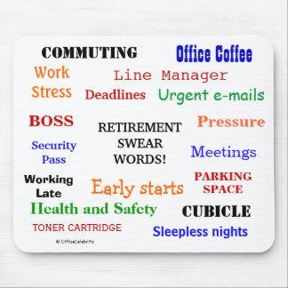 RETIREMENT SWEAR WORDS annoying but funny mousepad
