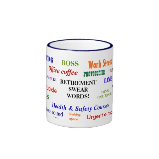 Retirement Swear Words Classic Ringer Mug