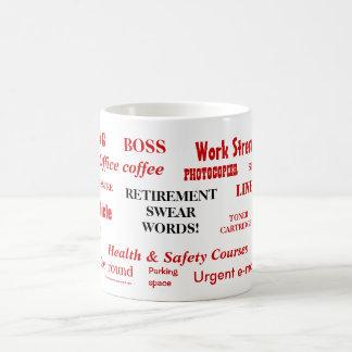 Retirement Swear Words Basic White Mug