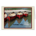 Retirement Thank You Note, Three Red Canoes Card