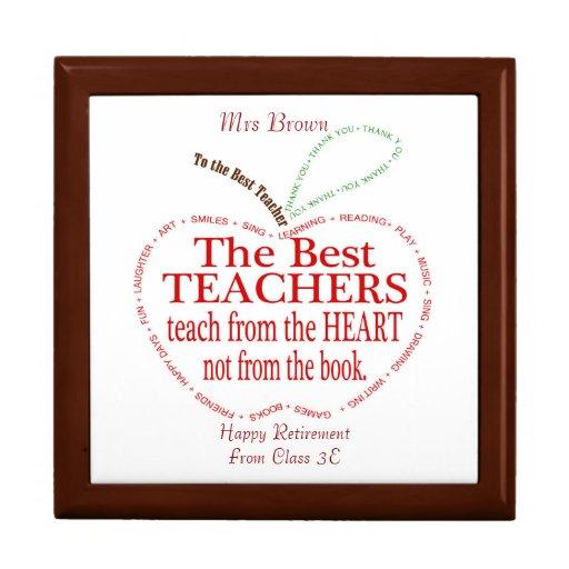Retirement, Thank you Teacher Gift Keepsake Box