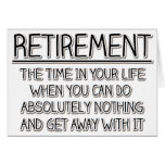 Retirement: Time to do Nothing