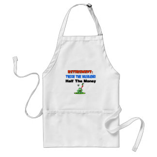 Retirement twice the husband apron