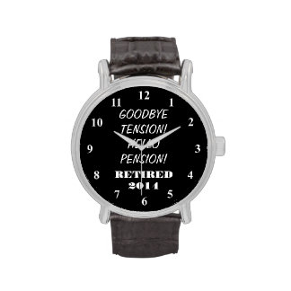 Retirement watch with personalized message