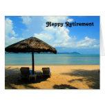 retiring beach dream big big greeting card