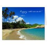 retiring caribbean beach big greeting card