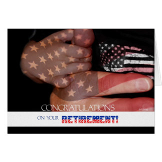 Retiring from the Service Patriotic Card