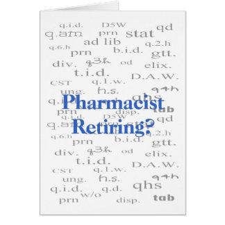 Retiring Pharmacist Card