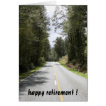 retiring roads greeting card