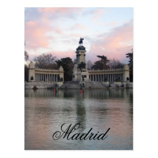 Retiro Park, Madrid, Spain Postcard