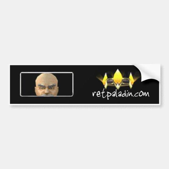 RetPaladin.com Bumper Sticker