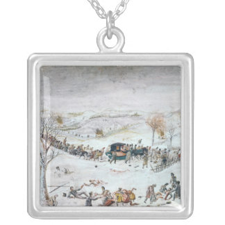 Retreat from Russia Silver Plated Necklace