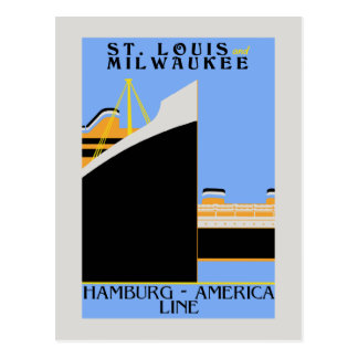 Retro 1920s 1930s style shipping ad postcard