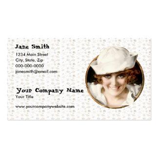 Retro 1920s Sailor Girl Business Cards