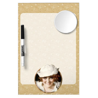 Retro 1920s Sailor Girl Dry Erase Boards