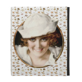 Retro 1920s Sailor Girl iPad Cases