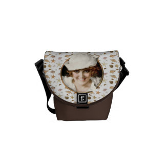 Retro 1920s Sailor Girl Messenger Bags