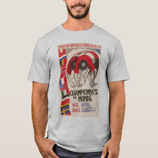 Retro 1930s art deco design cycling T-Shirt