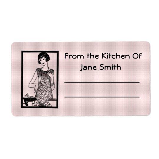 Retro 1930s Kitchen Label Shipping Label