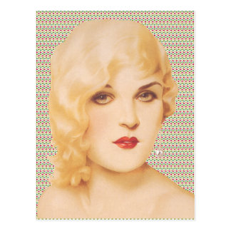 Retro 1930s Love Postcard