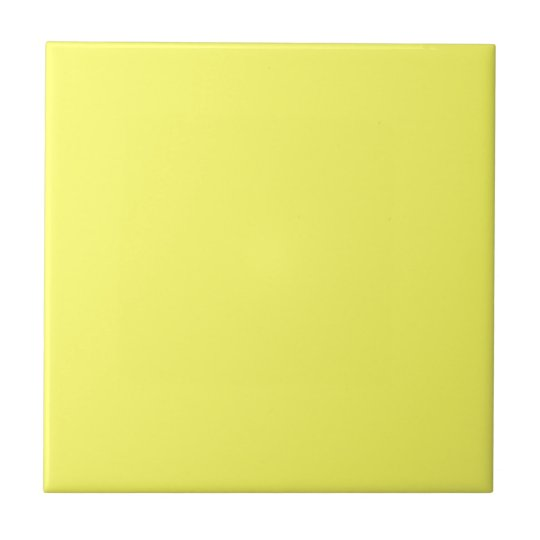 Retro 1940's era Citrus Yellow vintage Square Tile