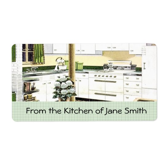 Retro 1940s Kitchen Labels