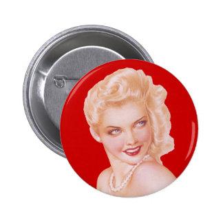 Retro 1940s Love 6 Cm Round Badge