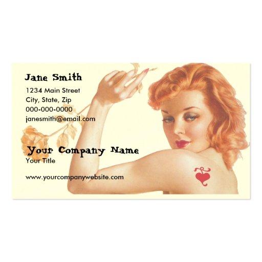 Retro 1940s Love Business Cards