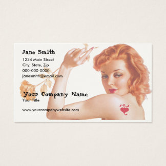 Retro 1940s Love Business Card