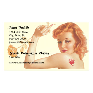 Retro 1940s Love Business Cards