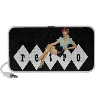 Retro 1940s Pin Up Mini Speaker