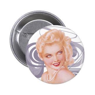 Retro 1940s Pinup 6 Cm Round Badge
