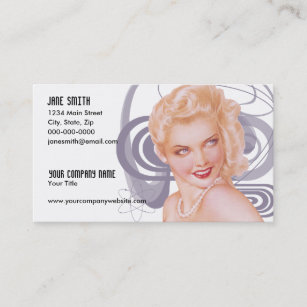Pinup business cards business card printing zazzle uk retro 1940s pinup business card colourmoves