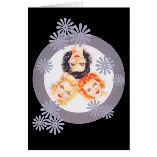 Retro 1940s Pinup Girls Note Card