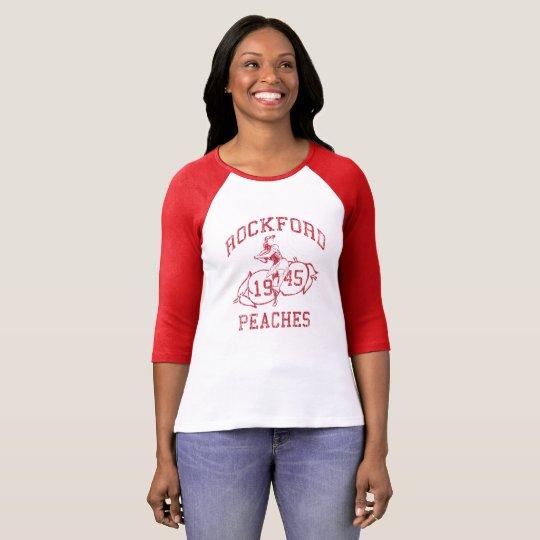 Retro 1946 Women's Pro Baseball Rockford Peaches T-Shirt