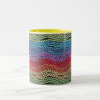 Retro 1950 / 1960 Pop-Beads Coffee Mug