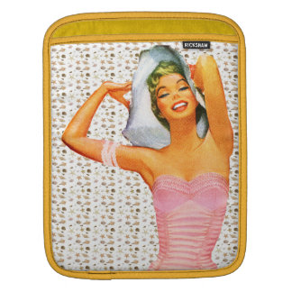 Retro 1950s Beach Beauty Sleeves For iPads