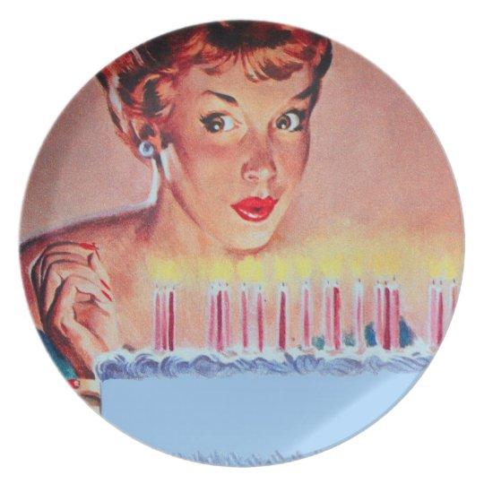 Retro 1950s Birthday Party Plate
