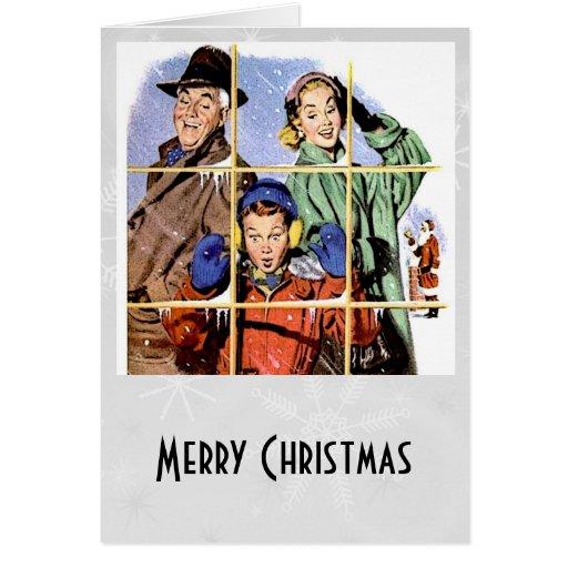 Retro 1950s Christmas Window Cards