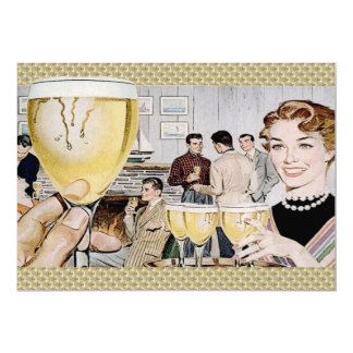 Retro 1950s Cocktail Party 13 Cm X 18 Cm Invitation Card